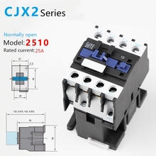 1PCS CJX2-2510AC Contactor CJX2-2510 25A switches LC1 AC contactor voltage 380V 220V 110V 48V 36V 24V 12V Use with float switch цена 2017