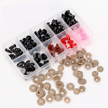 75pcs Box Mix Color Plastic Noses Safety Eyes For Toys 6mm 8mm 10mm 12mm Teddy Bear Toys Animal Amigurumi Eyes Dolls Accessories
