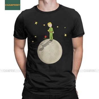 The Little Prince T Shirt for Men Cotton Amazing T-Shirts O Neck Eating An Elephant Cartoon Novel Tees Short Sleeve Tops Present - discount item  40% OFF Tops & Tees