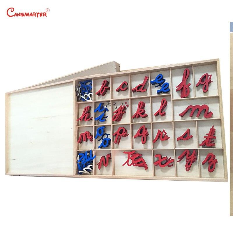 Jouets Montessori en bois de hêtre petite boîte Alphabet mobile enfants en bas âge exercices de langue préscolaire jouet éducatif et jeux LA014-3