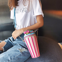 Cute Ice Cream Shaped Chains Messenger Bags Women Bag Harajuku Panelled Ice Cream Shoulder Crossbody Bags Ladies Girls Purses 2018 new and creative messenger bag with the shape of ice cream cute chain bag designed for lovely girls