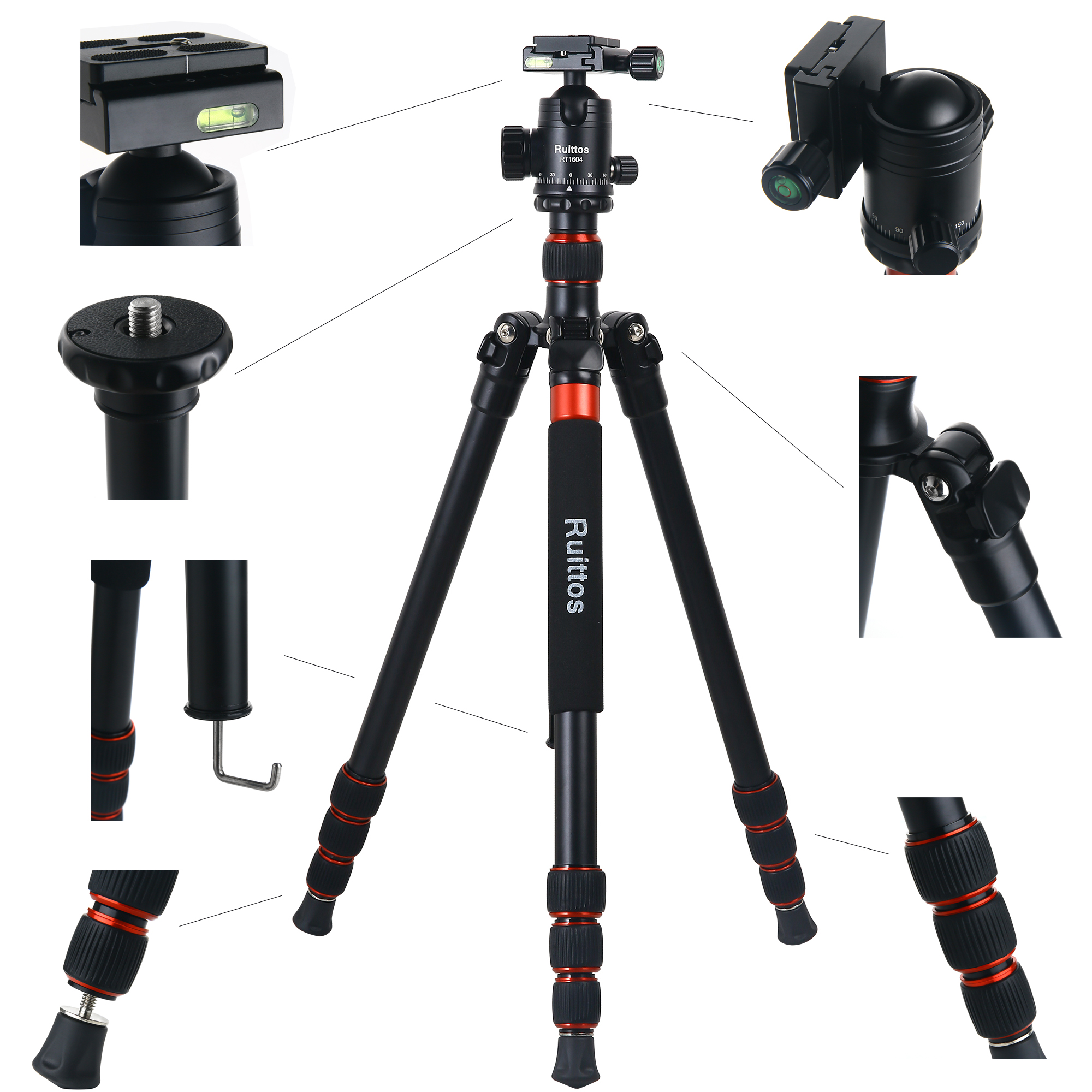 Z818 Tripods for Cameras 65 Aluminium Alloy Monopod with 360 Panorama Ball Head Quick Release Plate Ball for DSLR Canon Sony Nikon Cameras Blue ZOMEi Tall Tripod,Camera Tripod for DSLR