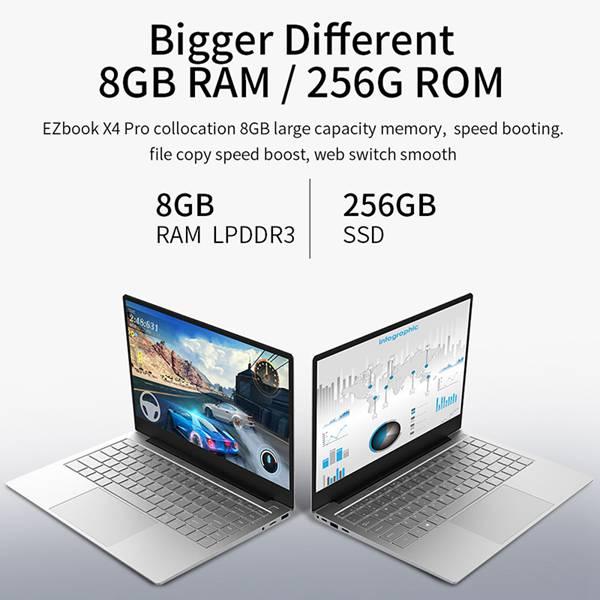 Jumper Ezbook X4 Pro Laptop 14 Inch Fhd Int-el Core I3-5005U 8Gb Ram 256Gb Rom Ssd Dual Band Wifi Windows 10 Notebook