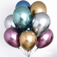30/50/100 pièces 12 pouces Chrome Latex ballons mariage fête décor Globos Metalicos épais perle métallique Latex Ballon hélium fournitures
