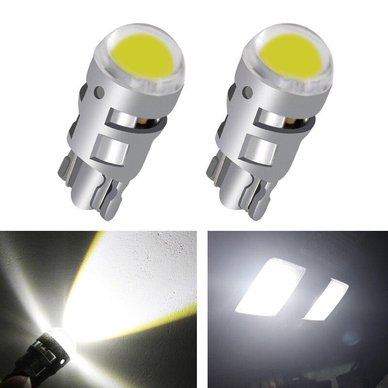 2 шт. сигнальная лампа T10 светодиодные автомобильные лампы W5W 194 168 Led T10 светодиодных ламп для автомобилей Белый 5W5 просвет обратный светильни...