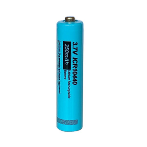 Image 2 - 5 xPKCELL Button Top AAA ICR10440 Liion Lithium Rechargeable Battery 3.7v 10440 For headlamp mechanical mod  torch headlight vap