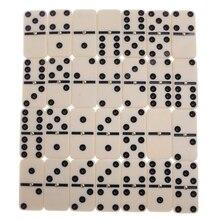 Двойной 6 домино w/раздвижная крышка стандартный набор из 28 плитки путешествия игра игрушка