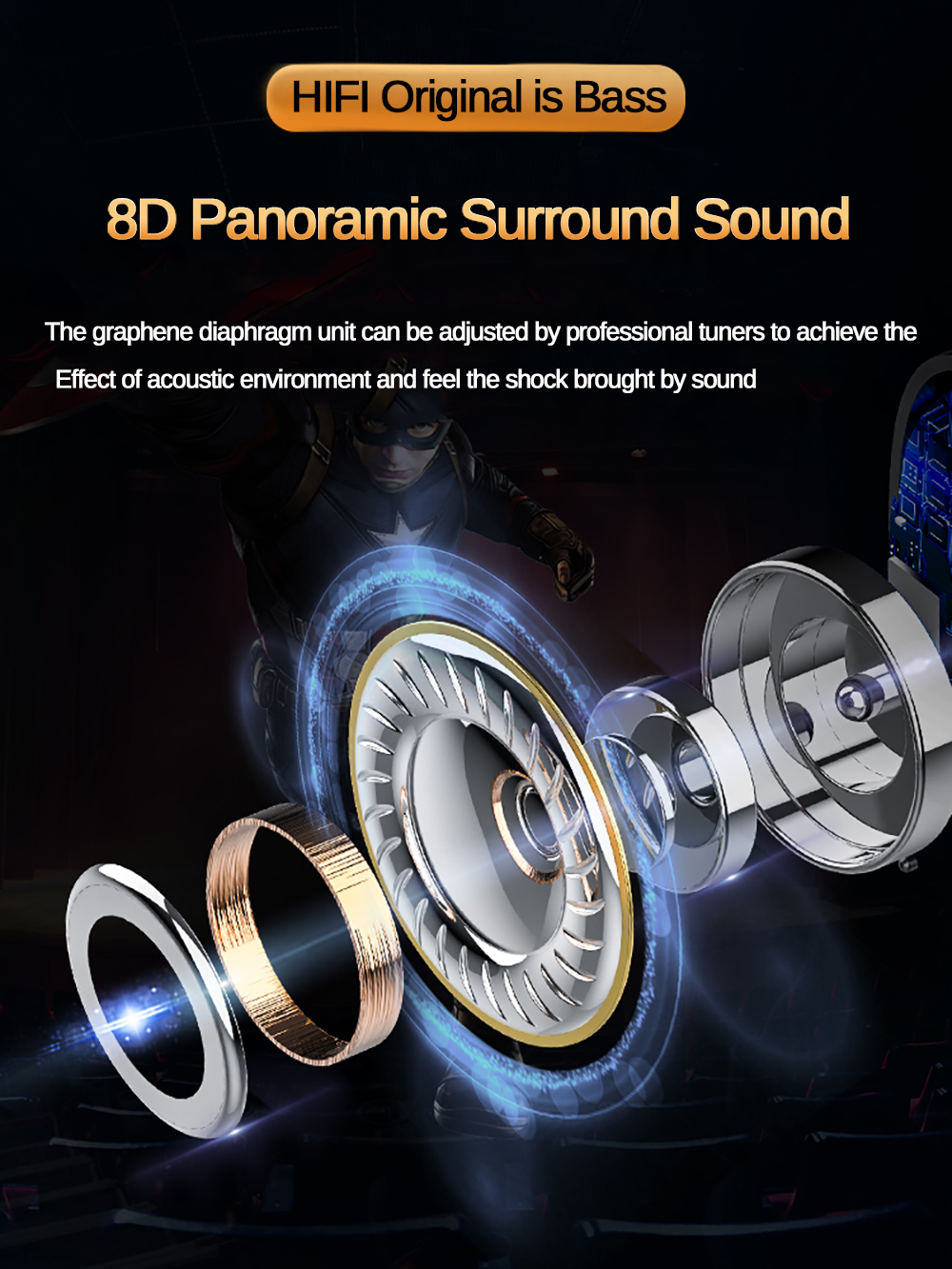 Space Capsule Bluetooth Earphone