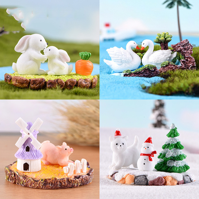 Teapot House Miniature Fairy Garden Miniaturas Micro Moss Landscape Diy Terrarium Accessories Figurines for Home Decor 2