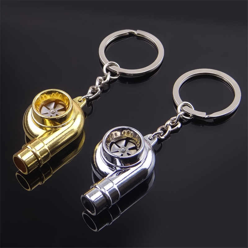 เสียงนกหวีด Turbo Keychain Sleeve BEARING SPINNING Auto Part Turbine Turbocharger Key CHAIN Key KEYFOB Keyring
