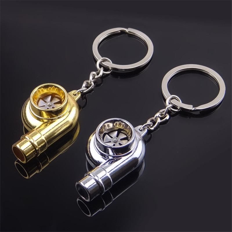 Handcrafted brass faucet whistle car key ring