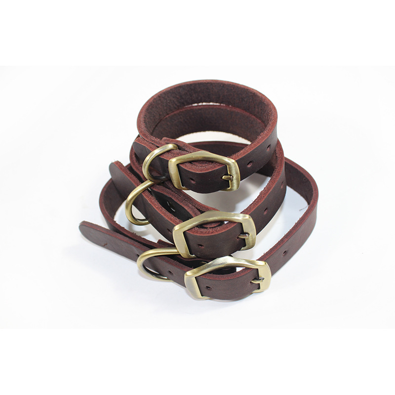 Pet Genuine Product Cow Leather Collar In Large Dog Horse Small Adult Only Collar Dog Cow Leather Collar Wholesale