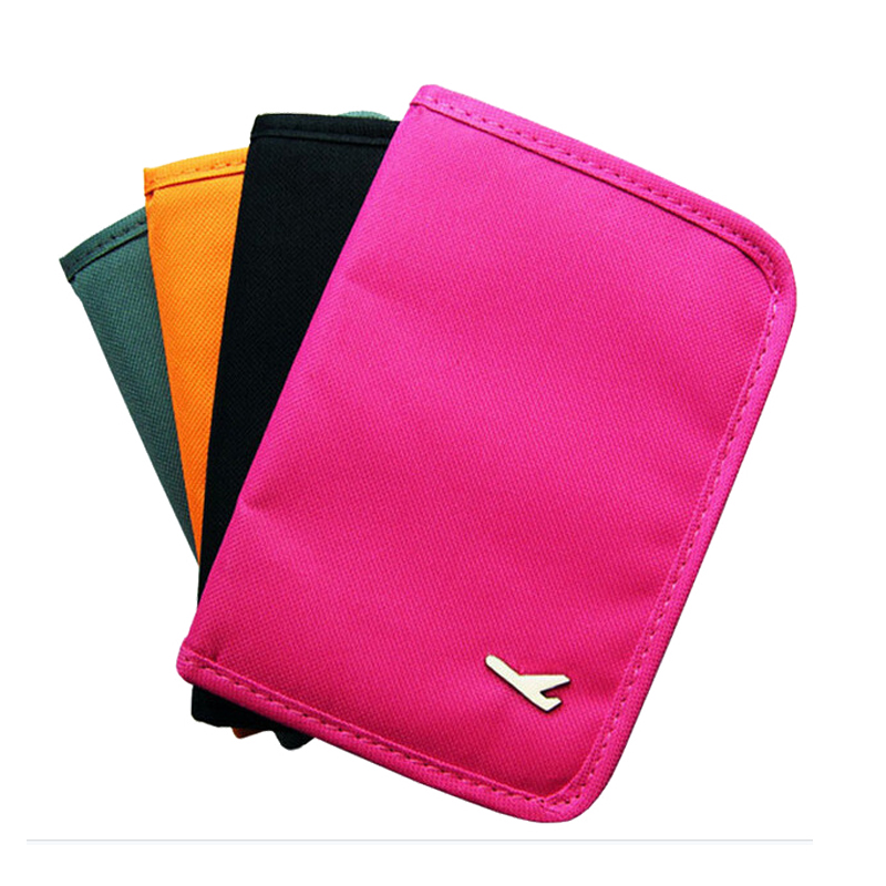 New Travel Vacation Multi-Function Storage Bag Oxford Material Zipper Passport Holder Male And Female Wallet Photo Position, Etc image