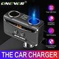 Onever автомобиль USB гнездо для автомобильного прикуривателя с разъемом 12 V-24 V Мощность адаптер макс. 5 в 3.1A устройство для автомобиля с двумя по...