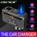 Onever Auto USB Zigarette Leichter Buchse Splitter 12 V-24 V Power Adapter Max 5V 3.1A Dual USB auto Ladegerät mit Voltmeter LCD
