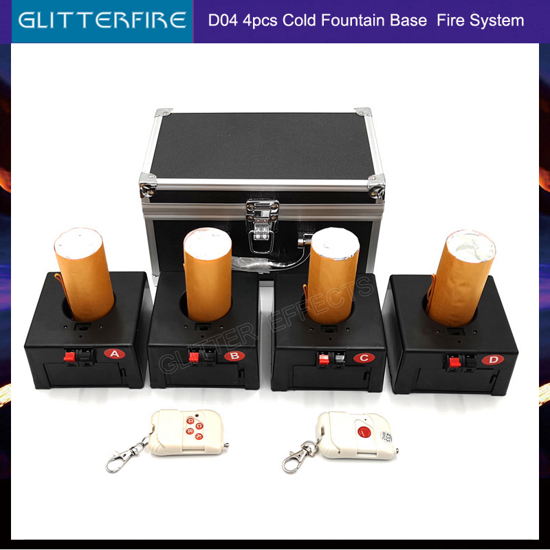 D04 Stage Wireless Remote Control Cold Fountain Fireworks Base Machine For Wedding
