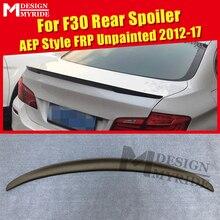 цена на Fits For BMW F30 Spoiler FRP Tail Wing Unpainted Spoiler 3-Series 325i 328i 330i 335i AEP Style Primer Black Spoiler 2012-2017