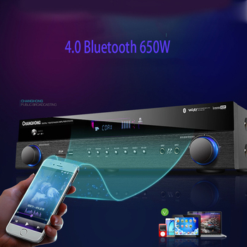 KYYSLB 500W/650W 5.1 220V CF5 4.0 Bluetooth Amplifier Home High Power Professional HIFI  Karaoke Fever Digital Amplifier Audio