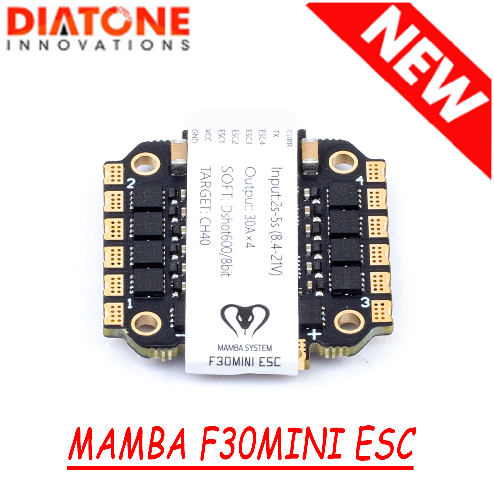 NEW Diatone MAMBA F30 F40 MINI PRO ESC <font><b>30A</b></font> <font><b>5S</b></font>/40A 6S Electronic Speed Controller for FPV Racing Drone Quad image