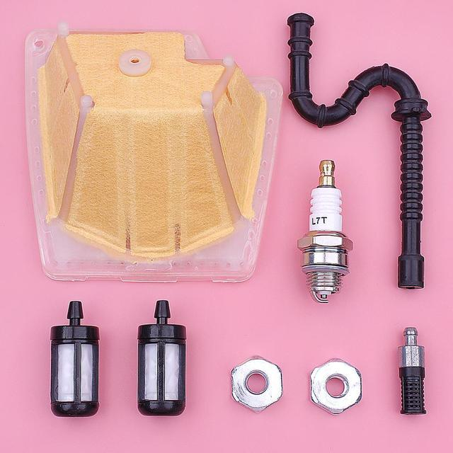 Air Fuel Oil Filter Line Kit For Stihl MS270 MS270C MS280 MS280C Chainsaw Part 1133 120 1604 w Spark Plug Bar Nut