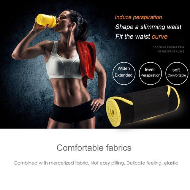 Slimming Waist Belt Trainer Sweat Sports Adjustable Belt Back Support Unisex Adjustable sports fitness sweat belt Waist Support 2