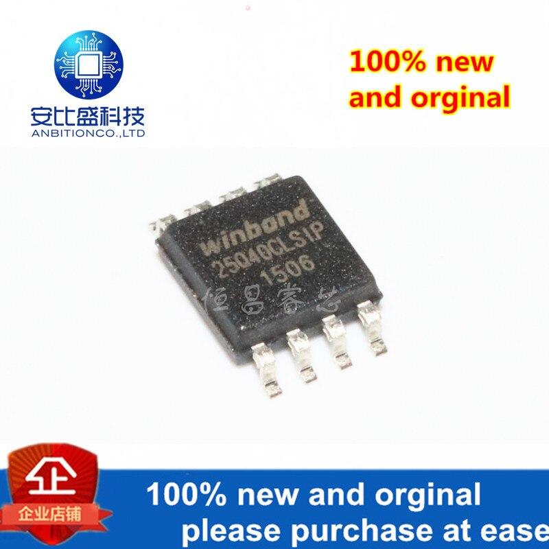 10pcs 100% New And Orginal W25Q40CLSSIP Silk-screen 25Q40SLSIP 4Mbits SOP8 In Stock