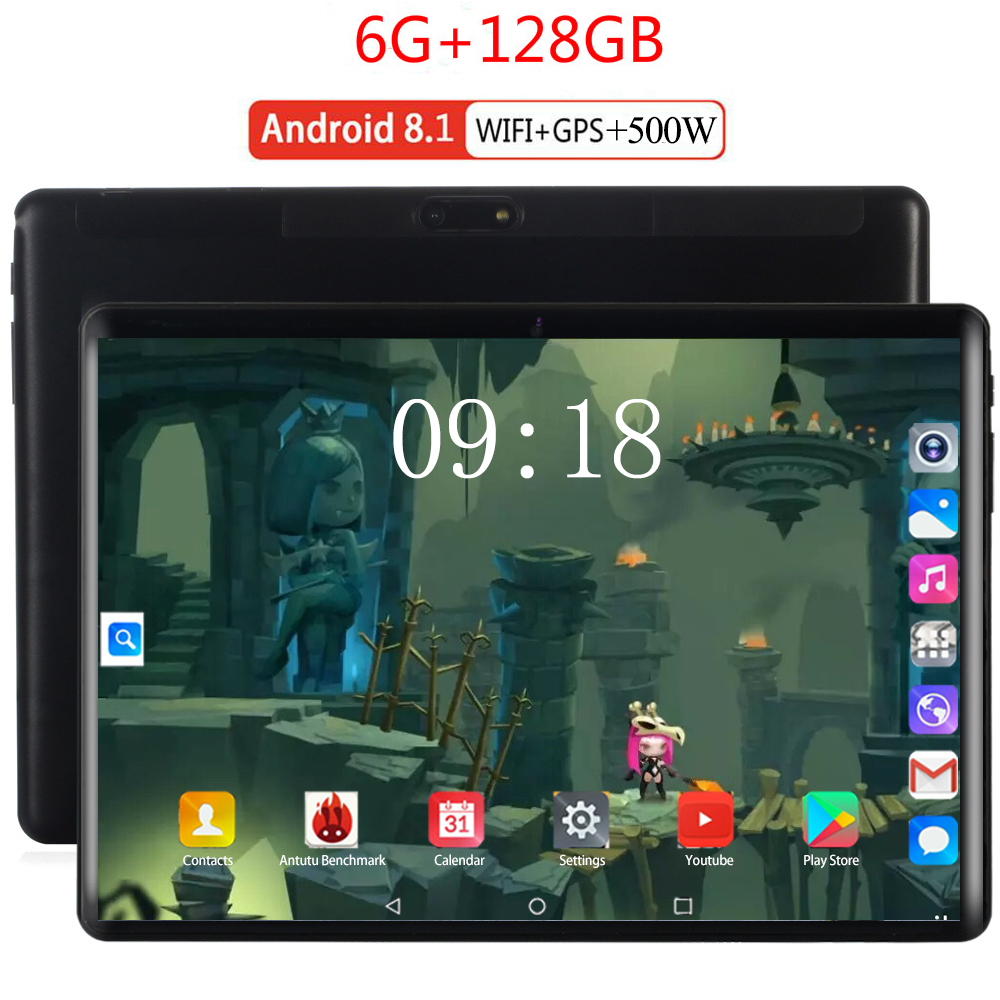 2020 10 Inch 4G LTE Tablet Octa Core Android 8.0 GPS Tablets 10.1 1280*800 IPS 6GB RAM 128GB ROM Dual SIM Card Media Pad Youtube