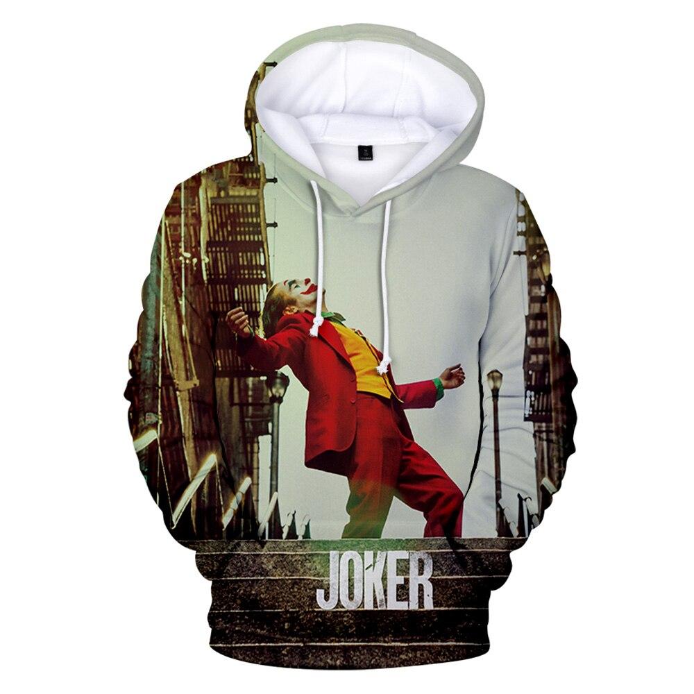 Frdun Tommy Movie Joker 2019 Joaquin Phoenix Arthur Fleck 3D Print Hooded Sweatshirt Men/Women Casual Hip Hop Hoodies Clothes