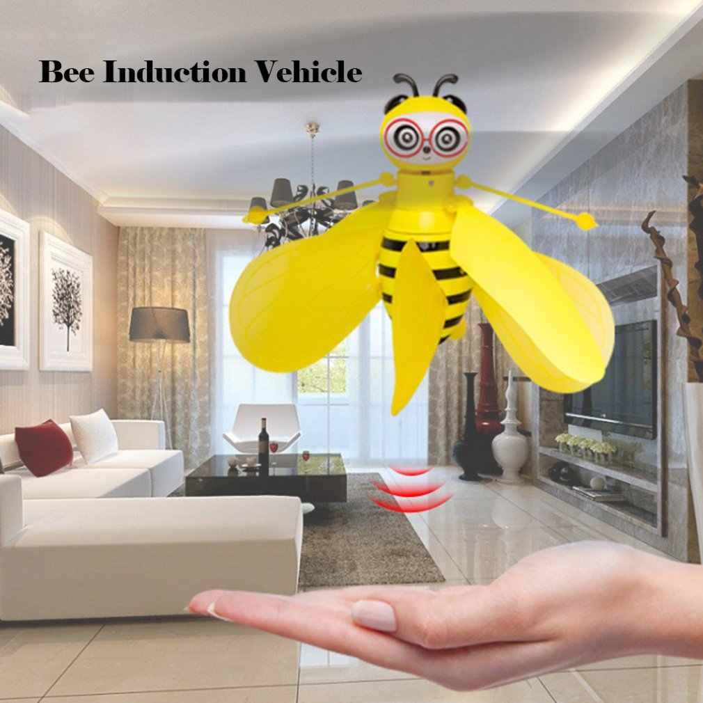Rotação pequena abelha indução aeronave gesto indução inteligente crianças brinquedos educativos de alta qualidade