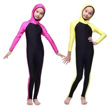 High Quality Full Cover Costume swimwear Girl Hijab Middle East Islamic Swimsuit Muslim Burkinis 3 pieces