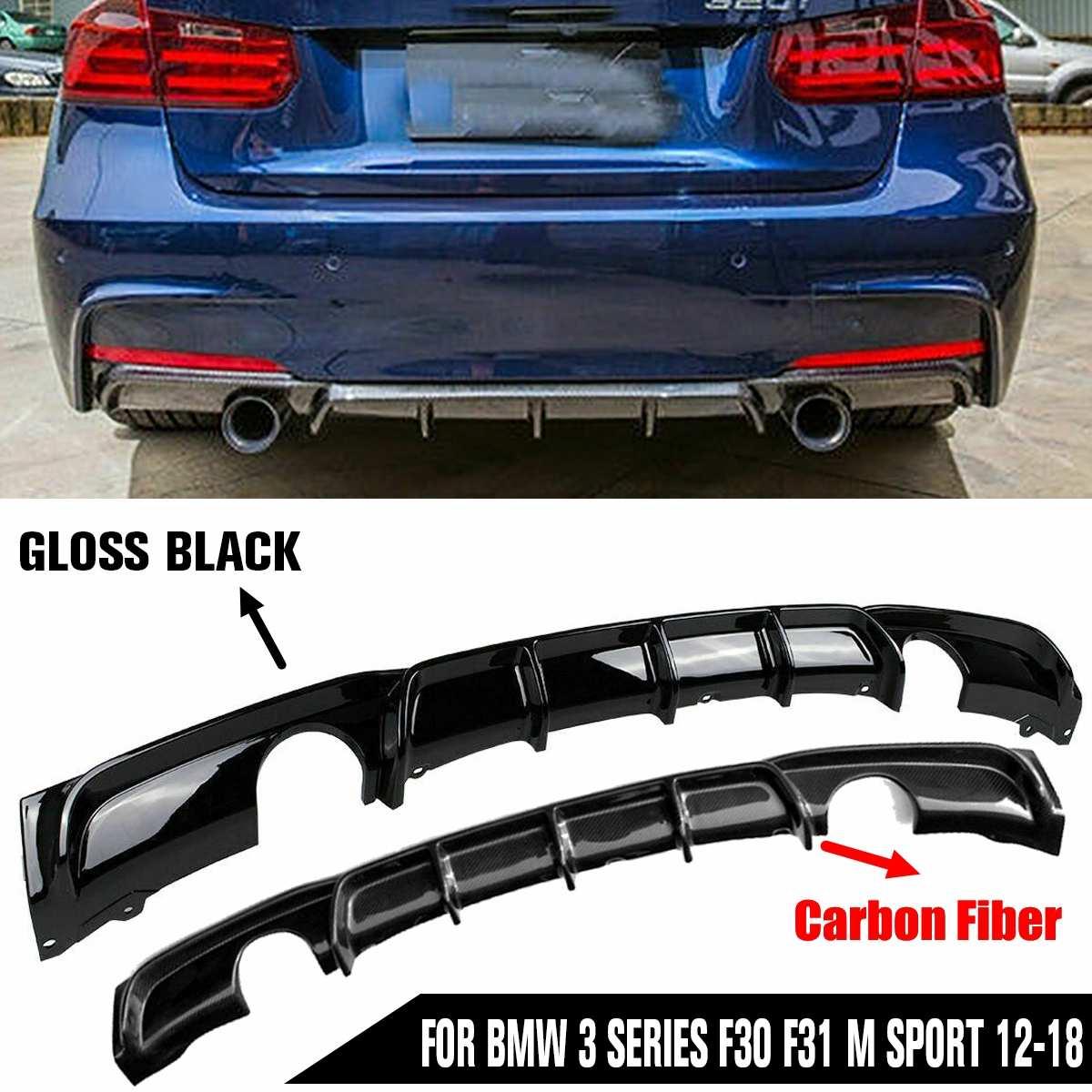 Sporty Carbon Fiber Rear Diffuser For 12-17 BMW F30//F31 320d 328i 335i M-Sport