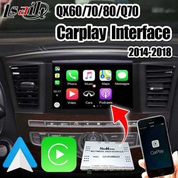 Lsailt Wireless CarPlay&Android Auto Adapter support rear camera , youtube for 2014-2018 Infiniti QX60 QX70 QX80 image