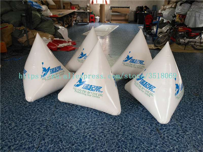 Sale of water sports inflatable buoys, water advertising buoys, water sports competition logo inflatable triangle buoys