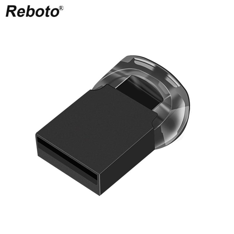 Reboto Mini USB Flash Drive 16GB 32GB 64GB Pen Drive U Stick Memory Stick 2G 4GB 8GB Tiny U Disk Pendrive USB 2.0