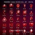 20 шт./упак. красный pointback; Обувь с блестящими стразами стекло ногтей Стразы для маникюра со стразами орнамент драгоценного камня 3D ногтей худ...