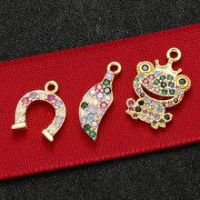 ZHUKOU – pendentif en laiton en cristal pour femmes, bijoux, accessoires de fabrication, modèle VD530
