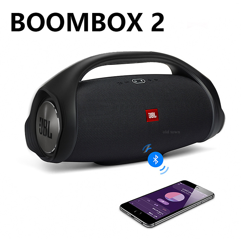 Boombox 2 Portable Wireless Bluetooth Speaker IPX7 Boom Box Waterproof Loudspeaker Dynamics Music Subwoofer Outdoor Stereo 2