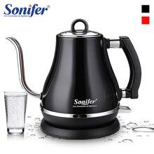 Электрический чайник из нержавеющей стали 1,2л 304, с гусиной шеей, 1500 Вт, для бытовой кухни, 220 В, быстрый нагрев, Электрический кипящий чайник Sonifer