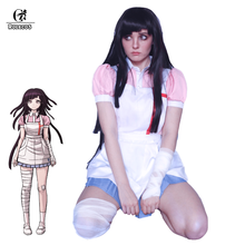 ROLECOS Super Danganronpa 2 Mikan Tsumiki Cosplay Costume Mikan Nurse Maid Dress Women Sexy Costume Dangan Ronpa Cosplay Outfit