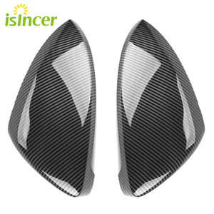 For Volkswagen Golf Mk6 Mk7 R20 Car Side Wing Mirror Cover For Scirocco Passat B7 CC beatle Rearview Mirror Cover Caps(China)