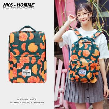 Fashion Women Backpack for School Teenagers Girls Stylish School Bag Ladies Canvas Fabric Backpack Female Bookbag laptopbag