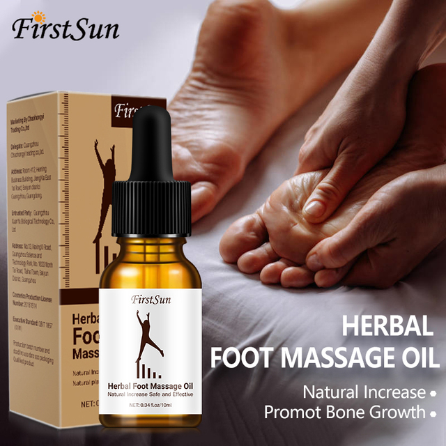 New Herbal Increase Height Essential Oil Grow Taller Increase Height Foot Massage Oil Health Care Products Promot Bone Growth