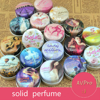 1PC 15g Solid Perfume for Men Women Floral Portable Round Box Solid Perfume Edt  Ept Balm Body Fragrance Skin Care Essential Oil