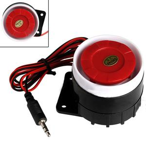 Image 2 - Red&Black Mini Wired Cable 120dB Loudly Siren Horn for Home Security Sound Alarm System Protection for Home DC 12V