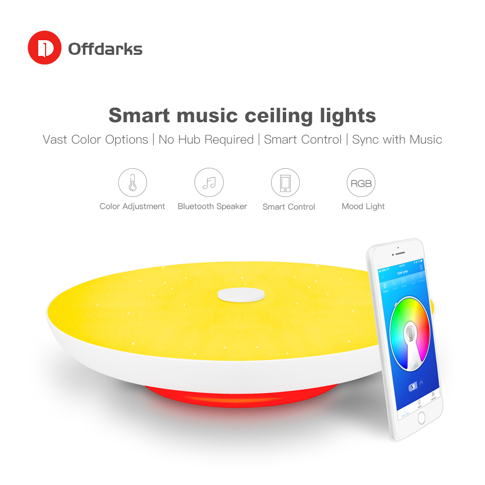 Modern LED ceiling Lights Dimmable 36W 48W 72W APP Remote control Bluetooth Music light speaker foyer bedroom Smart ceiling lamp - 2