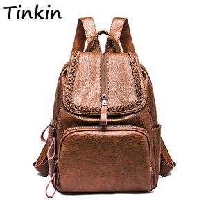 Простой стиль женский рюкзак повседневный Большой Вместительный школьный рюкзак элегантный дизайн сумка на плечо дорожная сумка Ipad Poacket вя...