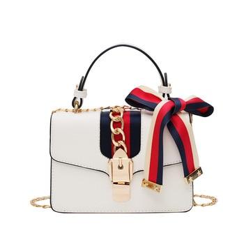 2020 new fashion temperament bag female fashion casual simple wild chain shoulder slung small square bag