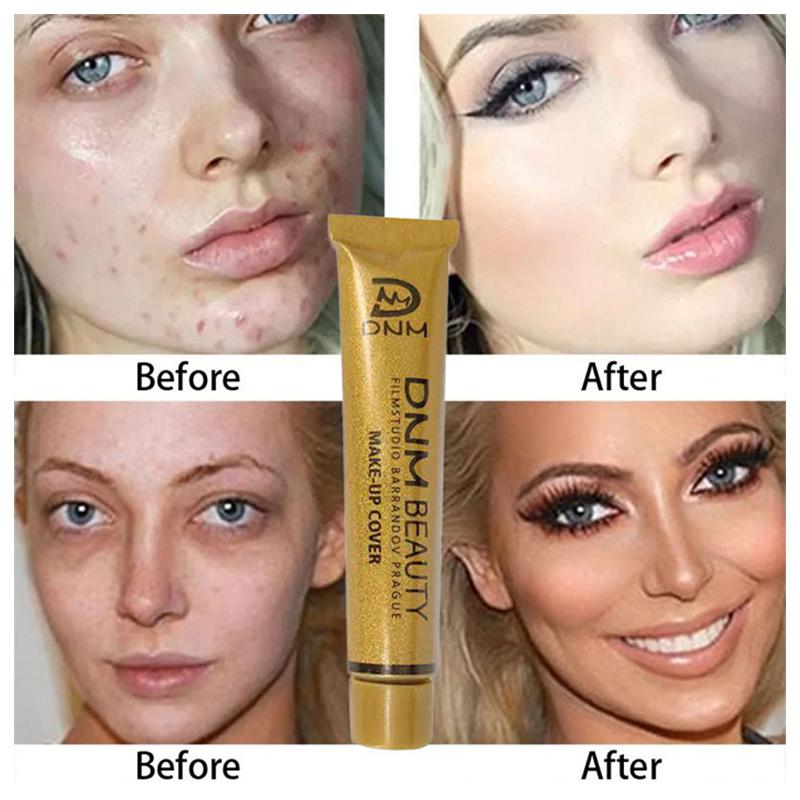 Makeup Cover Base Cream Waterproof Long Lasting Whitening Body Face Concealer Skin Brighten Foundation Make Up Cosmetic
