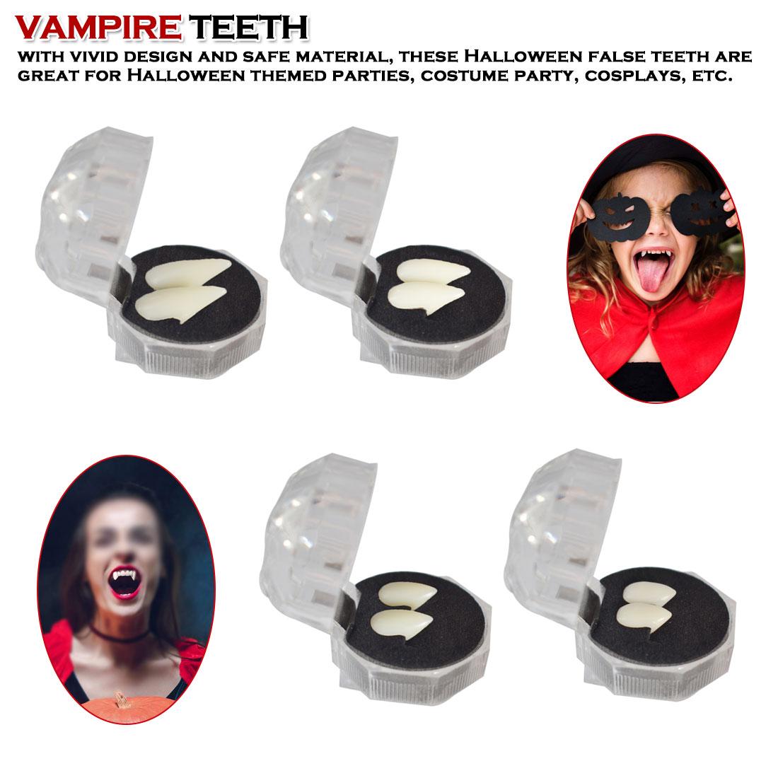 Cosplay Halloween Dentures Zombie Vampire Teeth Ghost Devil Fangs Werewolf Teeth Box Packed
