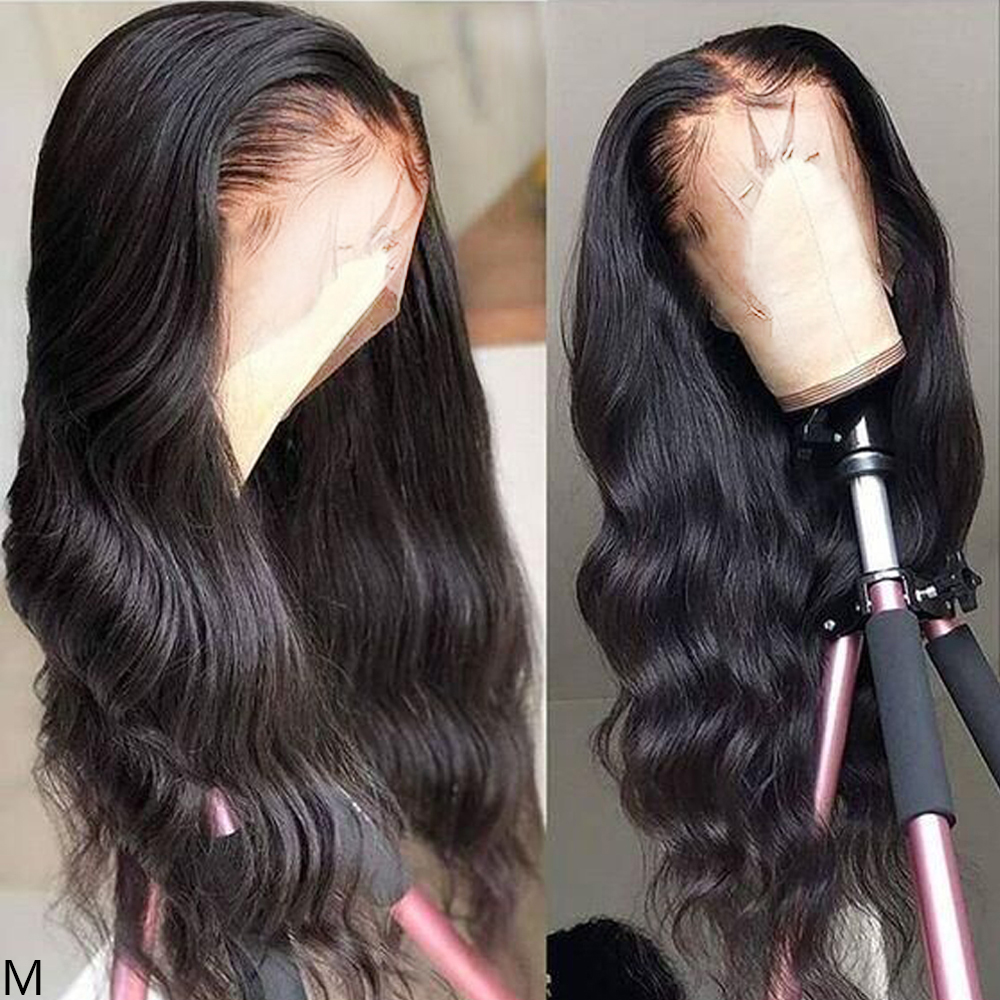 13x4 Lace Front Human Hair Wigs With Baby Hair Brazilian Body Wave Middle Part Remy Glueless Human Hair Lace Front Wig For Women